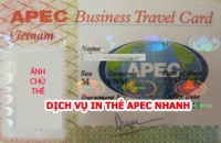 Dịch vụ In Thẻ Apec